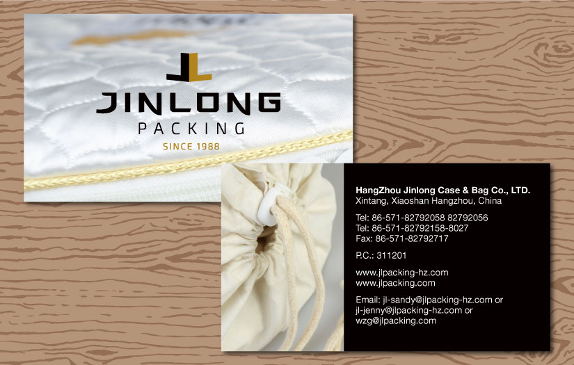jinlong packing business cards