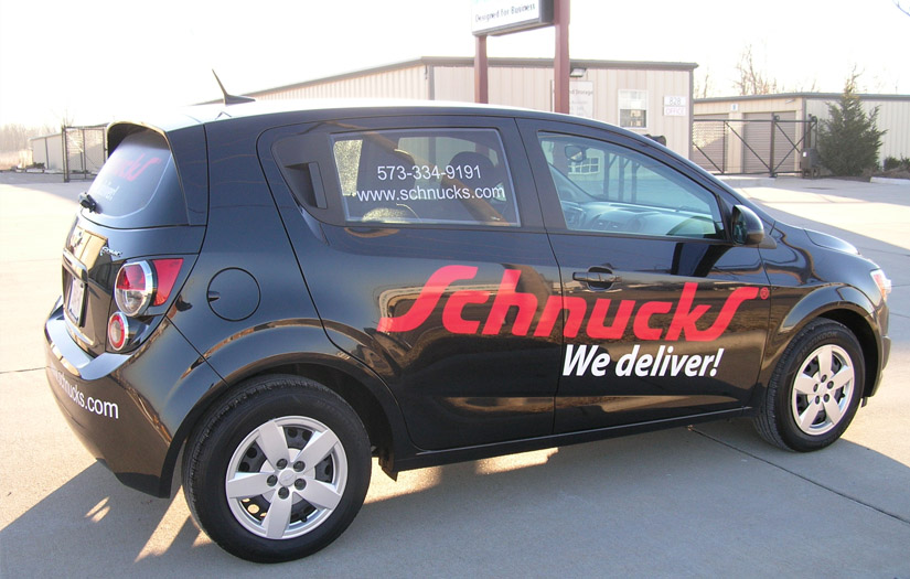 schnucks delivery vehicle wrap