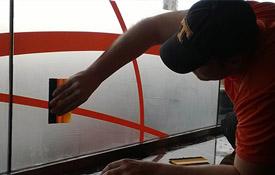 Josh working