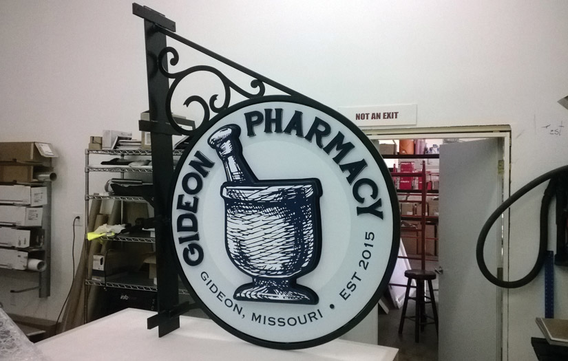 gideon pharmacy sign