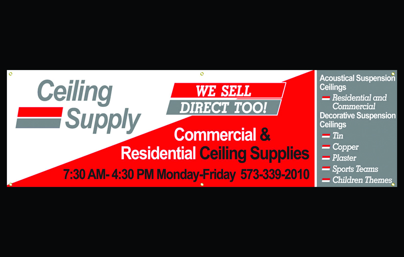 ceiling supply banner