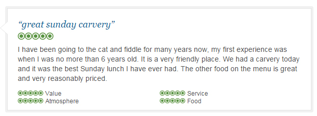 Great Carvery Reviews