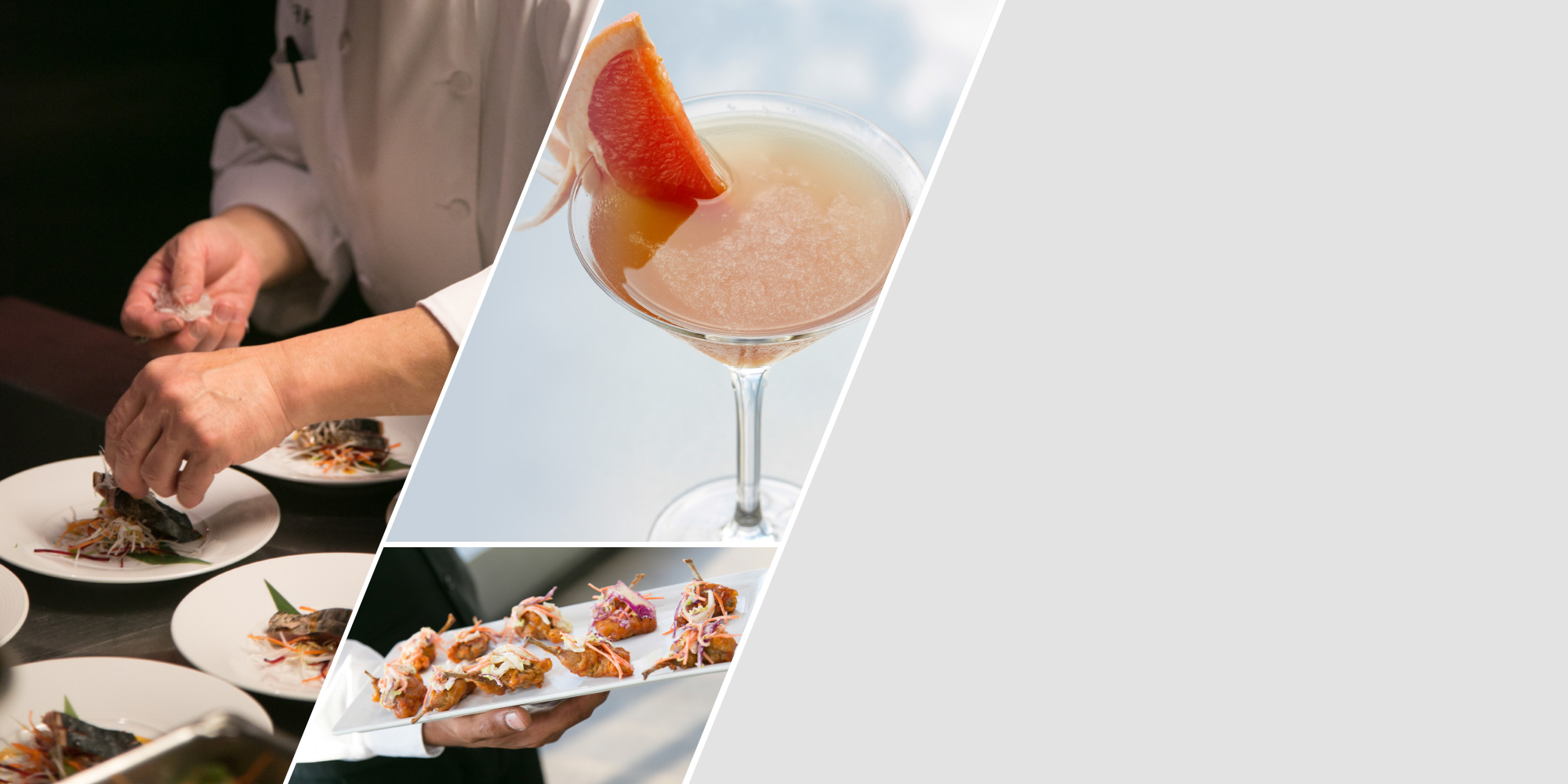 Five Sixty exclusive catering menu by Wolfgang Puck