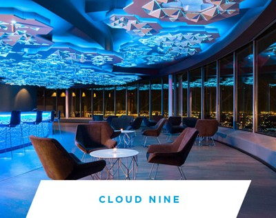 Cloud Nine is the premier private event space at Reunion Tower, Dallas.