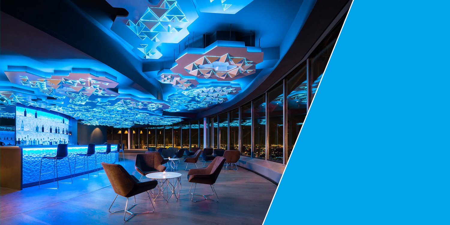 Cloud Nine, the premier private event space at Reunion Tower, Dallas