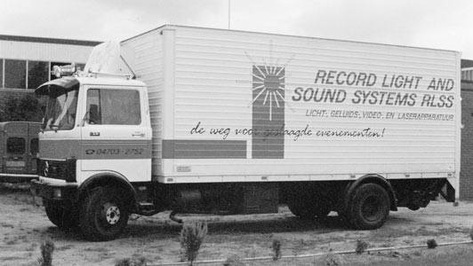 Bus van Record Light and Sound Systems, (Oude naam van Laserforum)