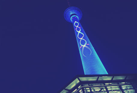 Lasermapping on the TV-Tower in Berlin