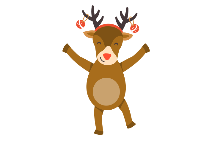 Rudolf the rednosed rednaar for decoration on http://laserforum.nl