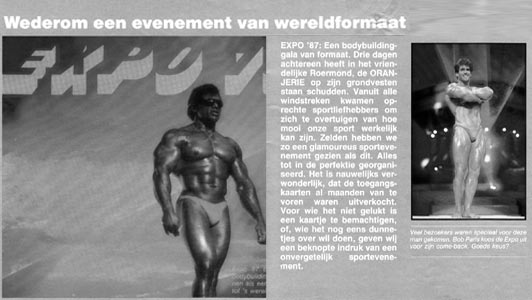 An article of the European Bodybuild Federation where we presented the lasershow