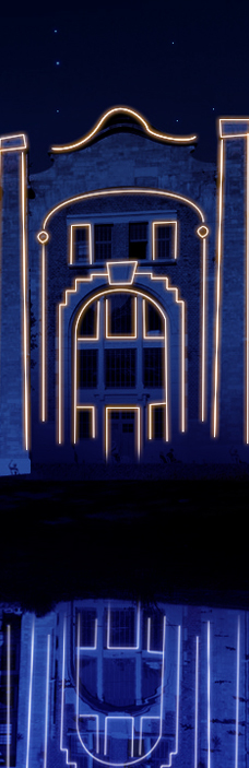 Example of lasermapping on the Thor building in Genk