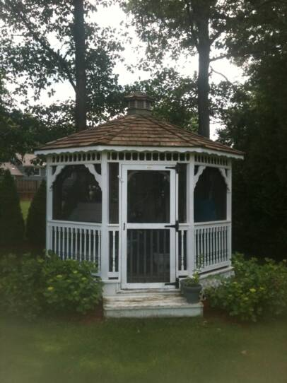 A clean, attractive gazebo roof