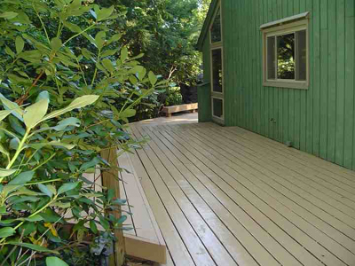 If your deck has deteriorated, restoration will make it look as nice as this one.
