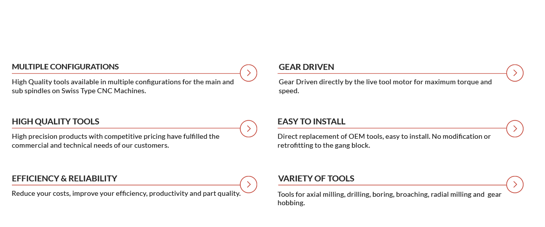 Swiss Tools Advantages