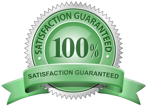 Green emblem noting we have a satisfaction guarantee