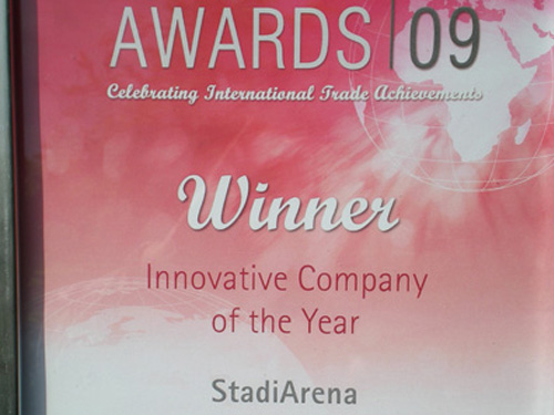 StadiArena wins 2 UKTI Awards 2