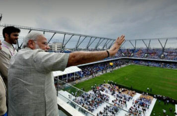 Prime Minister Modi Inaugurates The Worlds First StadiArena