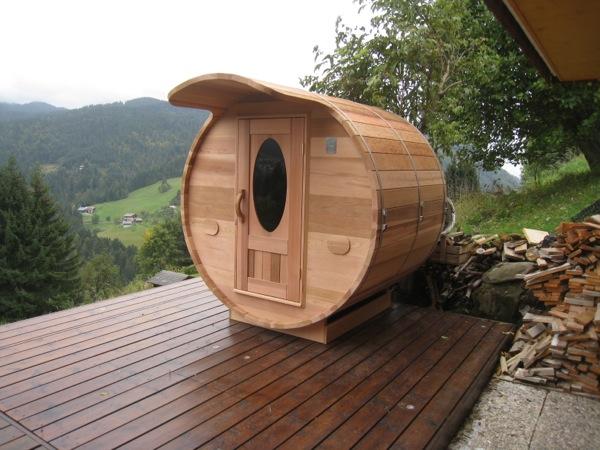 Le chalet du blanc - Sauna exterieur finlandais bois ...
