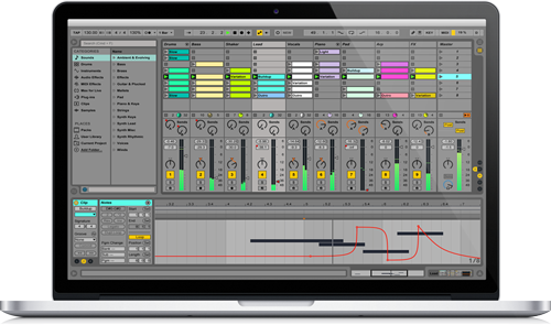 Macbook pro running Ableton Live