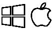 Logos of Microsoft and Apple