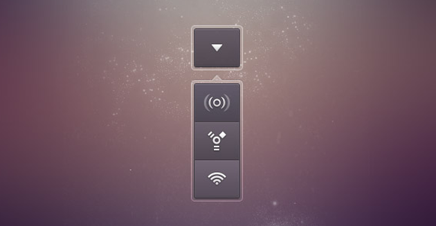 Drop Comm Button PSD Menu