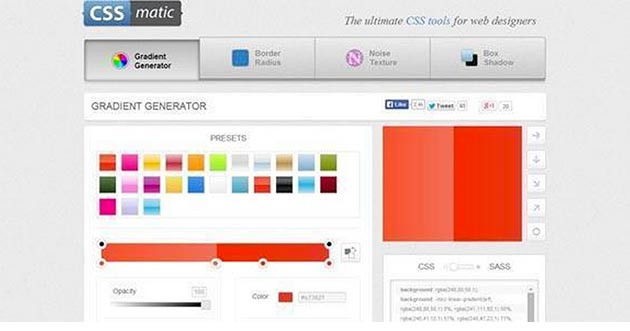 CSSMatic Gradient Editor