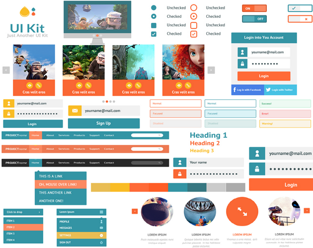 CSS Style Elements UI Kit