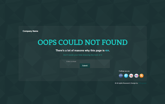 End of Business 404 Page.