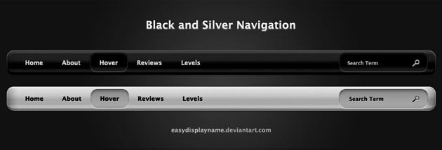 MetalGrey PSD Navigation Menu