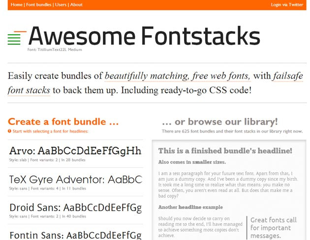 AwesomeFontstacks