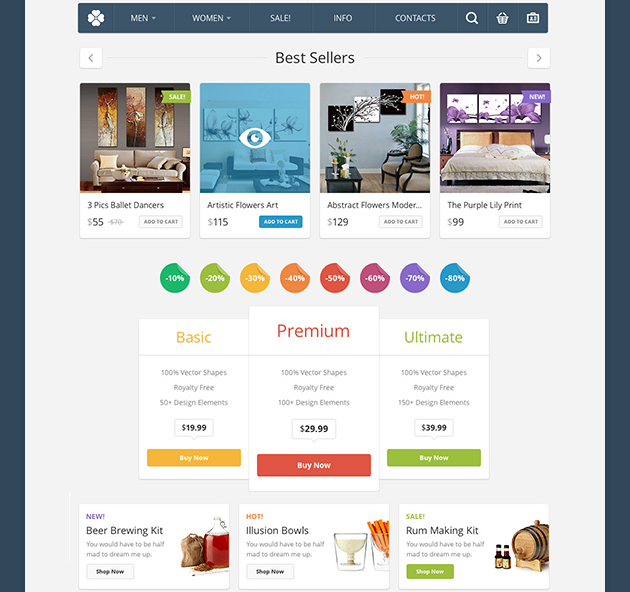 Shopping Page UI Kit