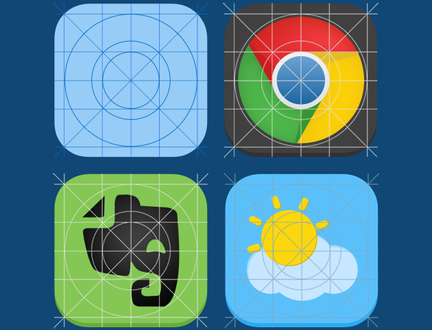 Icon Guider PSD for iOS7
