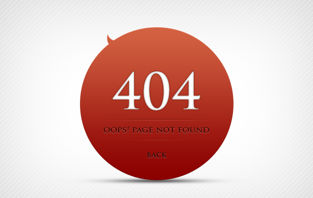 The Rosso 404 Page.