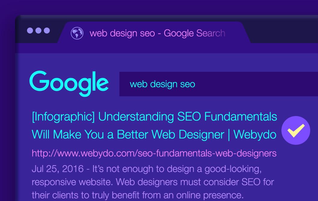 infographic seo fundamentals for web designers webydo