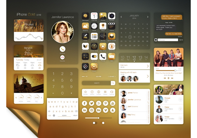 iOS Gold UI Kit