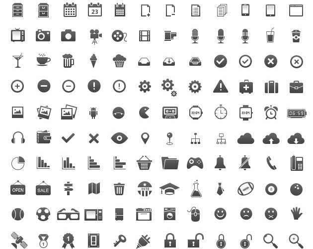 Flatted Web Icon Set