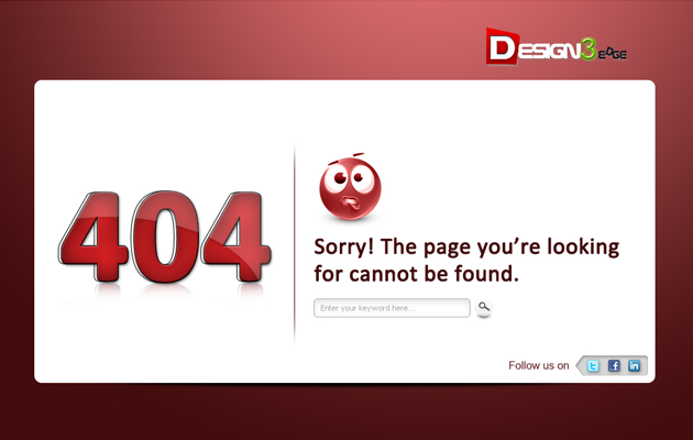 Red Gloss 404 Page.