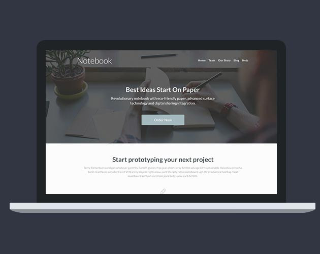 Beautiful Flat Landing Page Designs Webydo Blog - Splash website templates