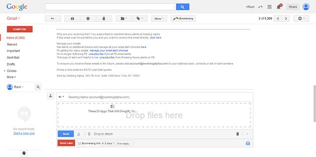 Gmail and Google Drive