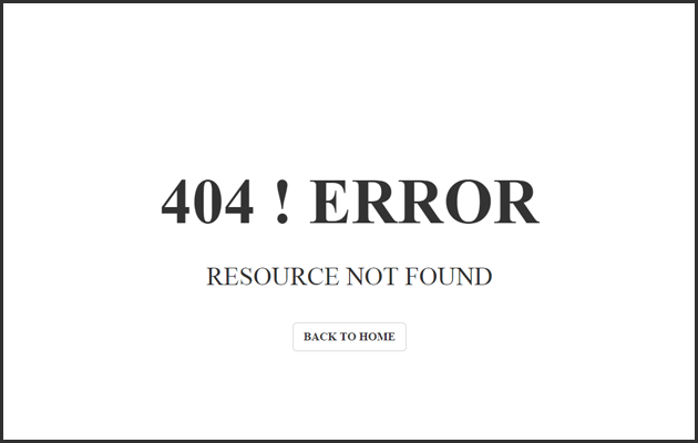 Traditional 404 Page.