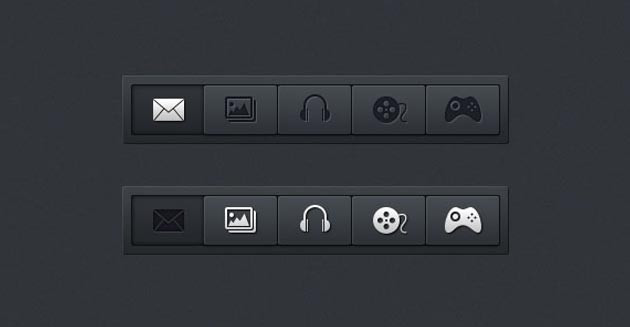 Horizontal Nav PSD Menu Bar