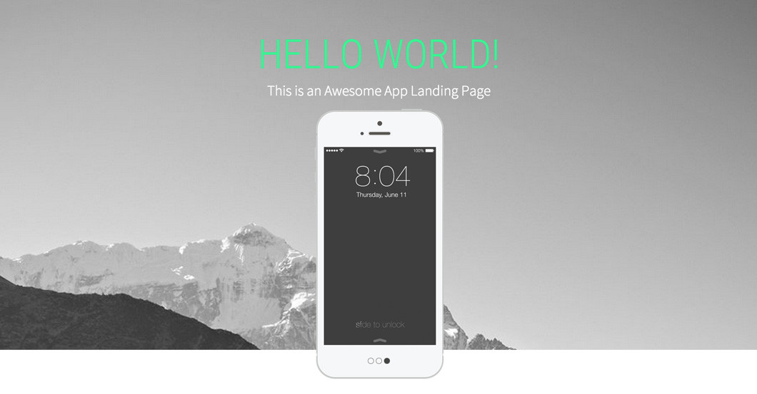 Over The Top Landing Page
