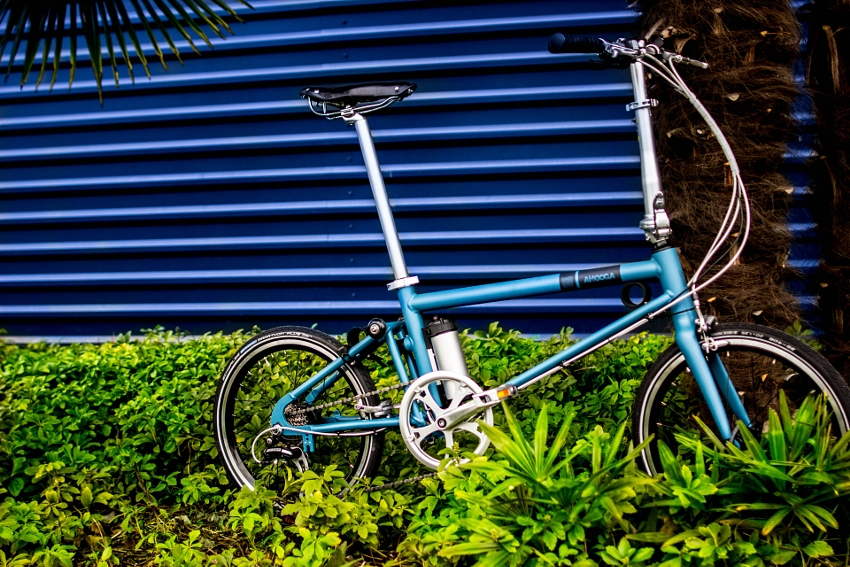 Ahooga Hybrid Bike / Style+ / Wall Mc Blue