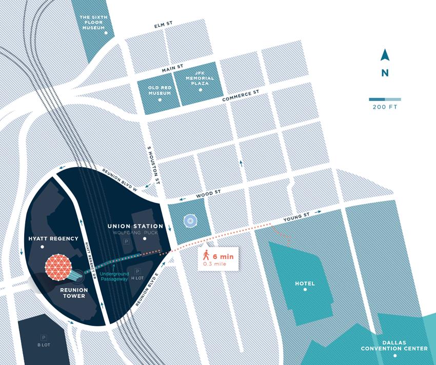 Reunion Campus area map
