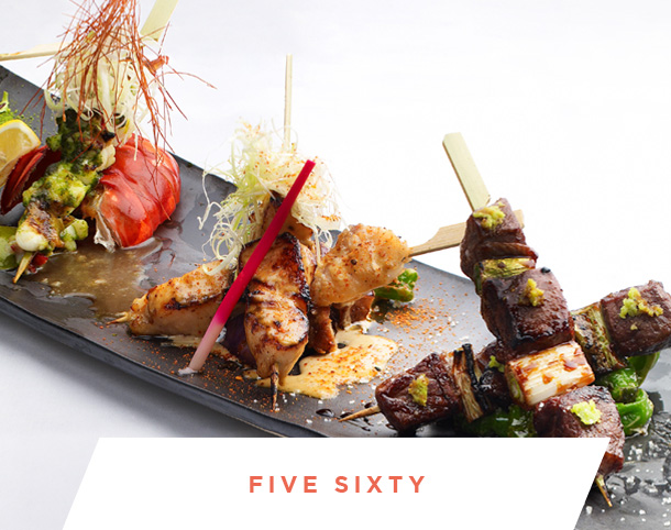 Five Sixty exclusive catering menu and private dinner party space