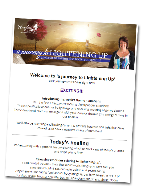 A Journey to Lightening Up - an energy healing course for weight loss