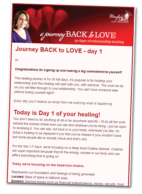 A Journey BACK to LOVE - clearing blocks in your relationship