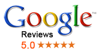 google reviews logo on clear background, link to the reviews of poooh busters on google