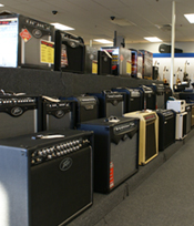 musical gear at The Music Shop in Southington